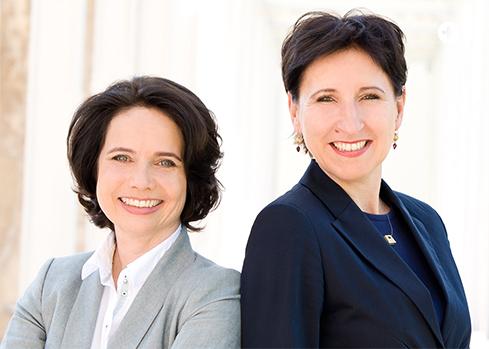 Die Initiatorinnen Simone Schönfeld (l.) und Dr. Nadja Tschirner (r.)