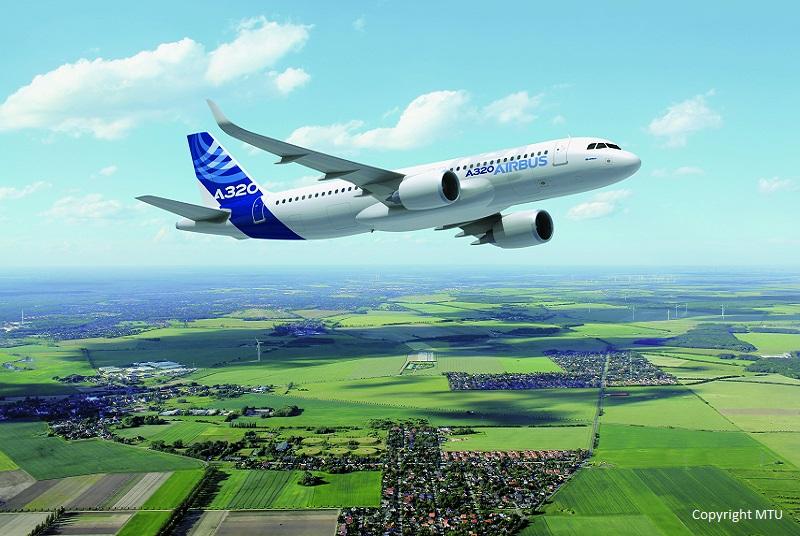 A320 in der Luft