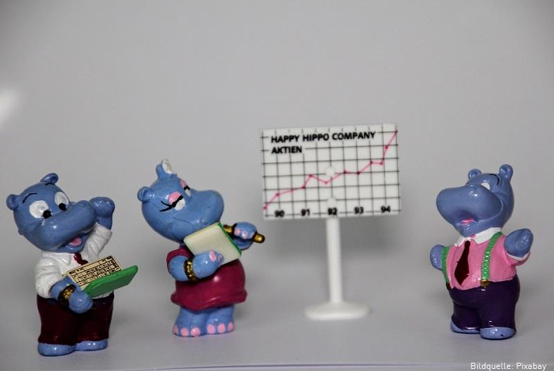 Happy Hippos bei einer Teambesprechung