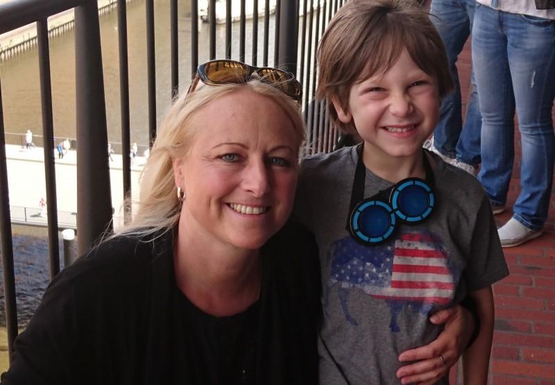 Stephanie Vischer und ihr Sohn