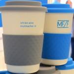 Heiß begehrt: Unsere Coffee-to-Go-Becher als Giveaway auf der HerCareer 2017.