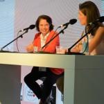 """Simone Schönfeld, MFF-Initiatorin und Cross Consult-Geschäftsführerin, bei der Podiumsdiskussion zum Thema """"Cross Mentoring – das Beste für ihre Karriere?!"""""""