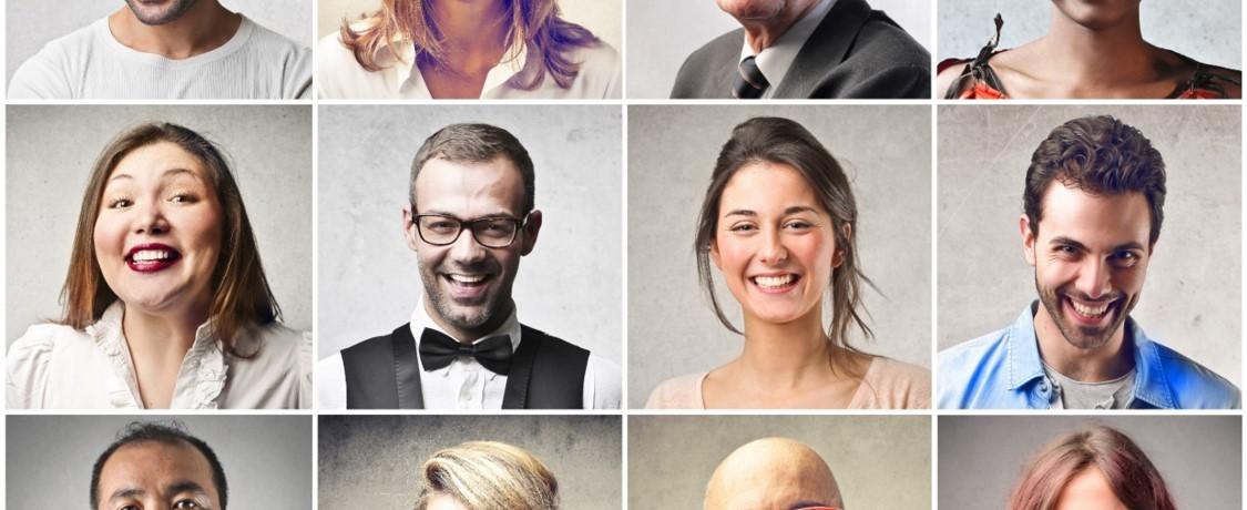 Collage aus verschiedenen Menschen