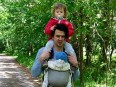 Daniel Jagar, KPMG, mit seinen beiden Kindern
