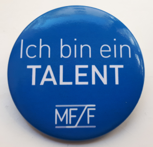 Ich bin ein Talent . MFF-Button